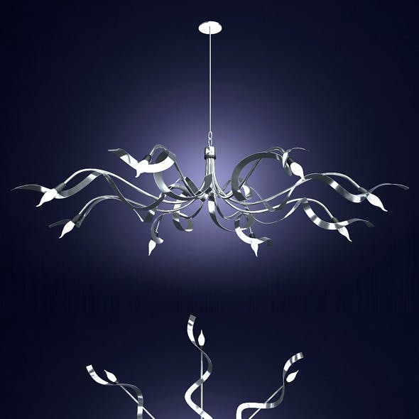 Chandelier Ruban Plie. designer Jacco Maris