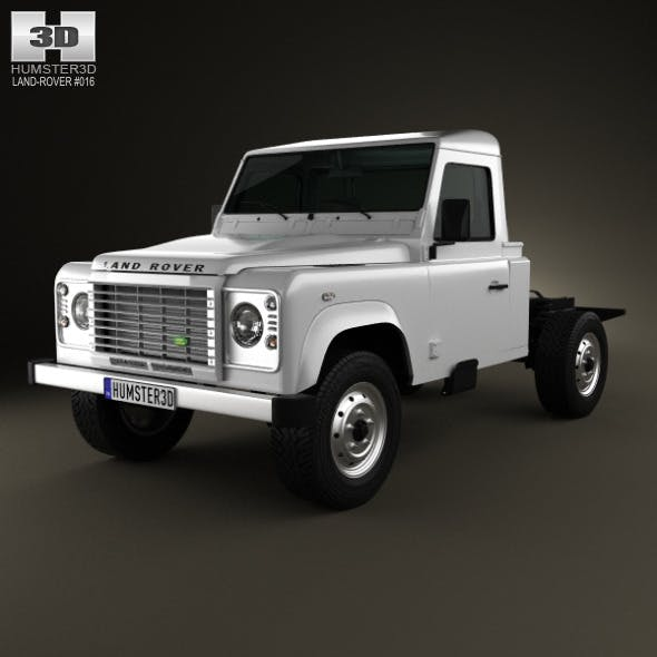 Land Rover Defender 110 Chassis Cab 2011 - 3DOcean Item for Sale
