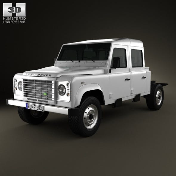 Land Rover Defender 130 Double Cab Chassis 2011 - 3DOcean Item for Sale