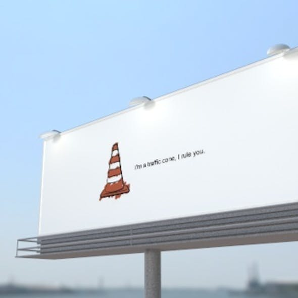 Cinema 4D billboard advertising