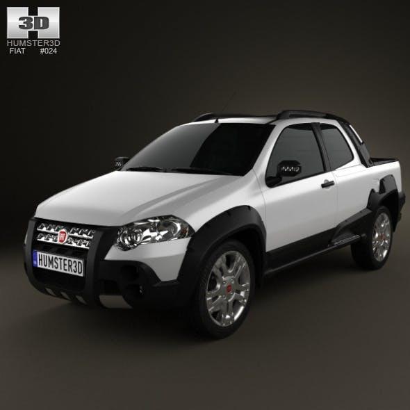Fiat Strada Long Cab Adventure 2012 - 3DOcean Item for Sale