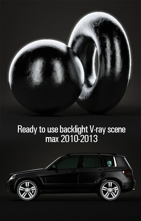 Ready to use backlight V-ray scene - 3DOcean Item for Sale