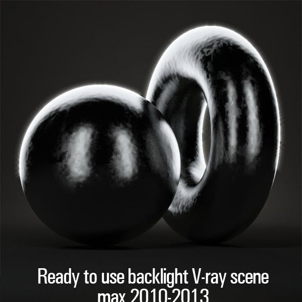 Ready to use backlight V-ray scene