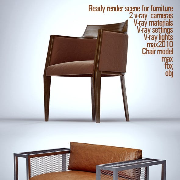 Ready render scene for furniture