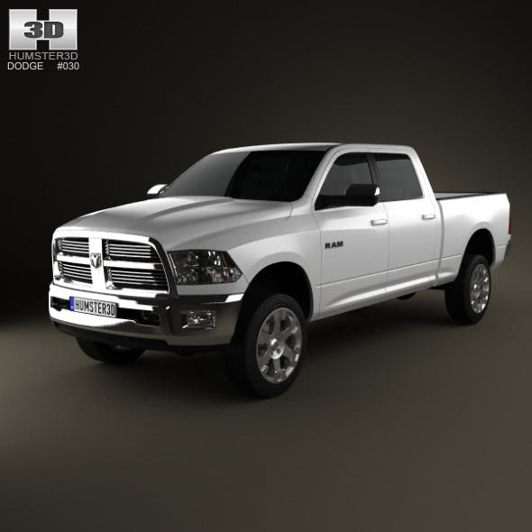 Dodge Ram 2500 Crew Cab Big Horn 6-foot 4-inch Box - 3DOcean Item for Sale