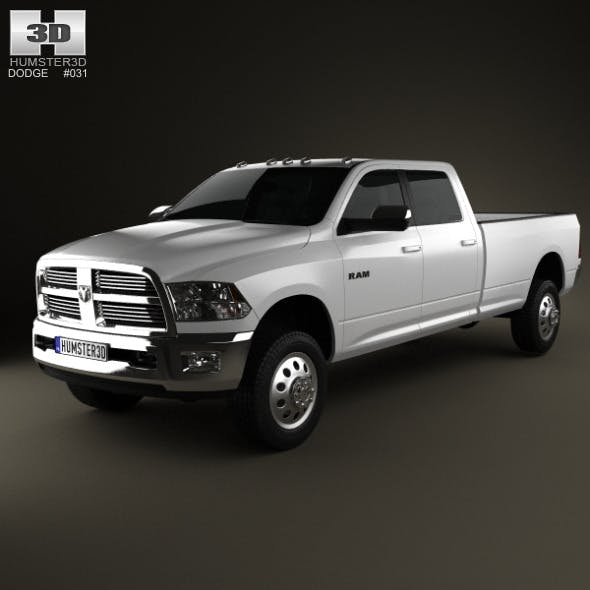 Dodge Ram 2500 Crew Cab Big Horn 8-foot Box 2012 - 3DOcean Item for Sale