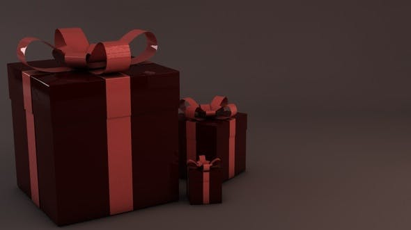 Christmas gift box presents - 3DOcean Item for Sale