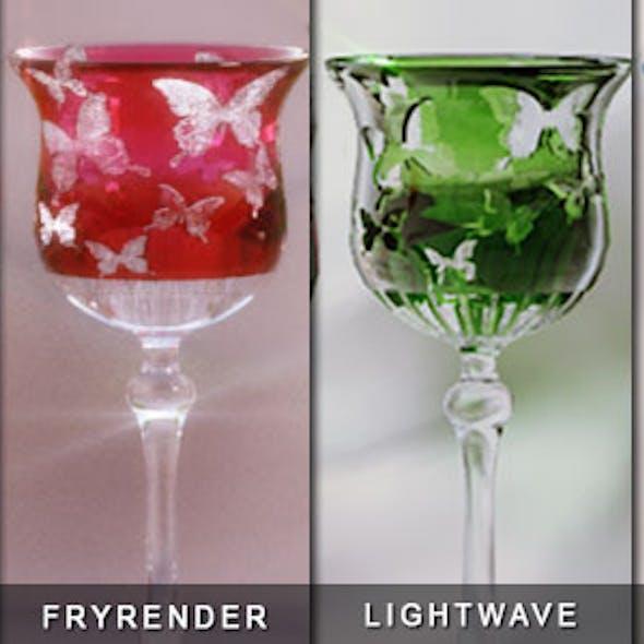 Studio Lighting Scene + Colored Glass
