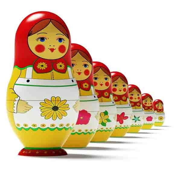 Russian dolls - 3DOcean Item for Sale