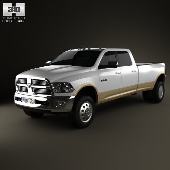 Dodge Ram 3500 Crew Cab Dually Laramie 8-foot Box  - 3DOcean Item for Sale