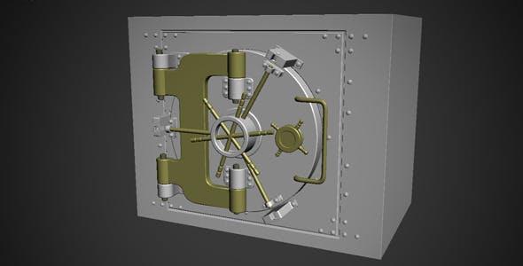 Steel Safe Model - 3DOcean Item for Sale