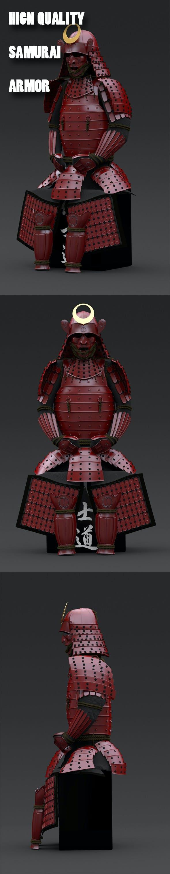 Samurai Armor - 3DOcean Item for Sale