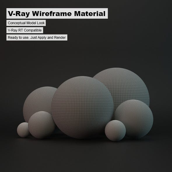 V-Ray Wireframe Material