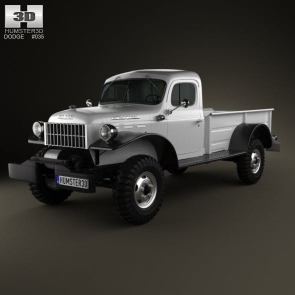 Dodge Power Wagon 1946 - 3DOcean Item for Sale