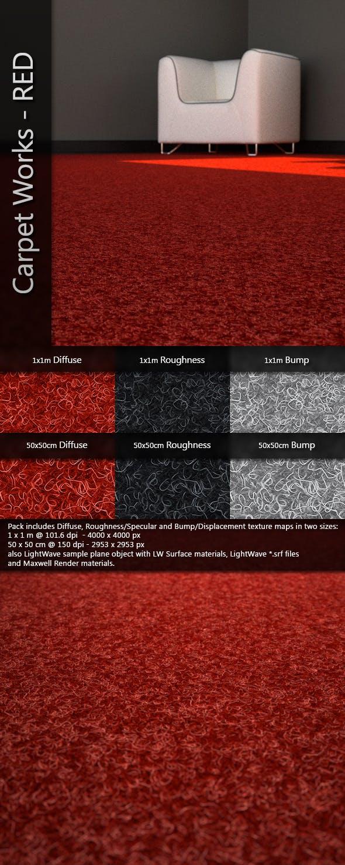 AJD Carpet Works - RED - 3DOcean Item for Sale
