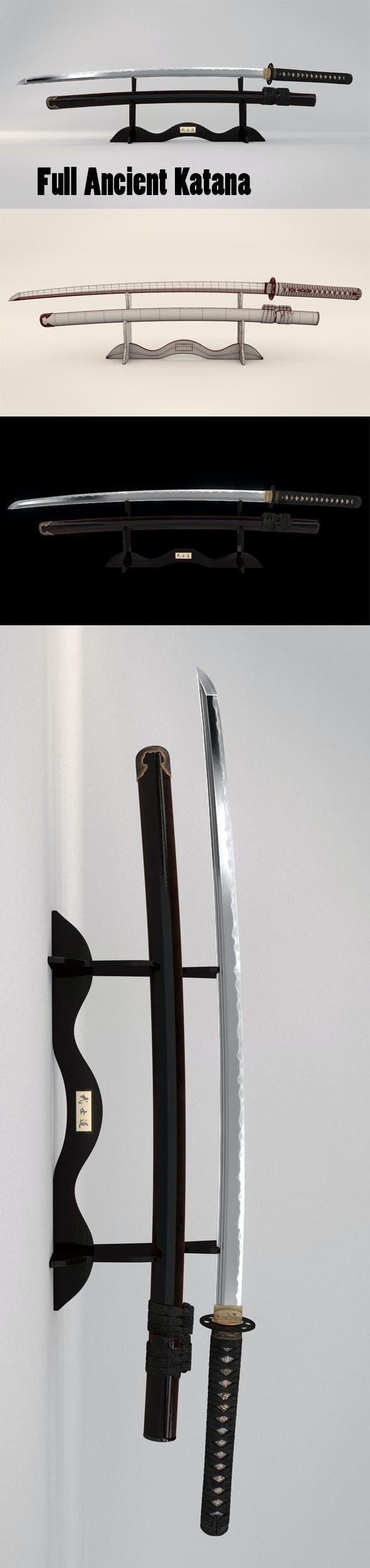 Katana - 3DOcean Item for Sale