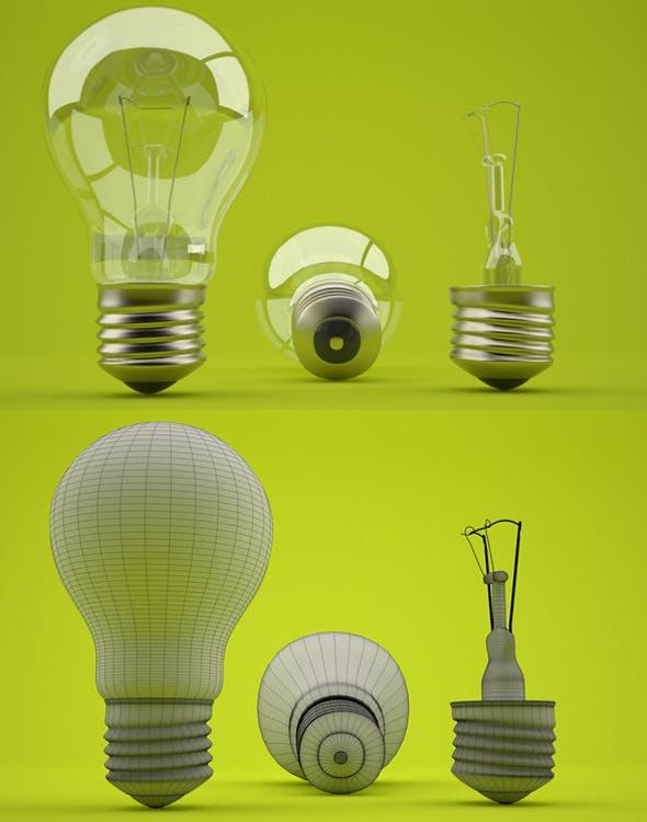 Realistic light bulb - 3DOcean Item for Sale