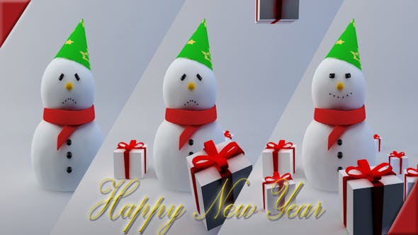 Happy Snowman - 3DOcean Item for Sale