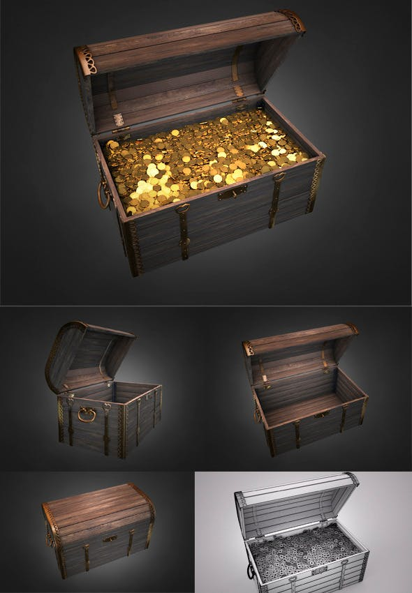 Old Treasure Chest - 3DOcean Item for Sale