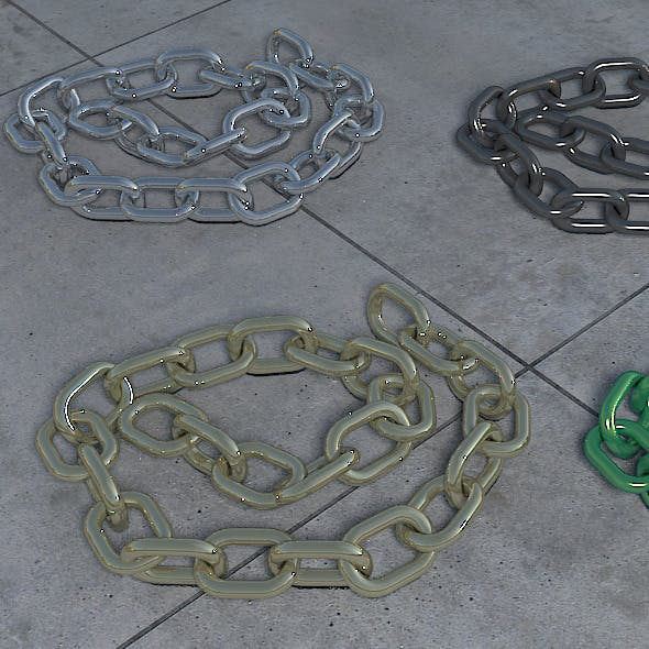 25 Link Poseable Chain - 3DOcean Item for Sale