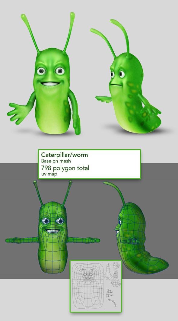 Caterpillar base on mesh - 3DOcean Item for Sale