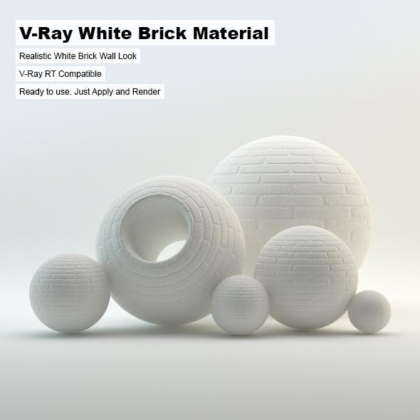 V-Ray White Brick Material - 3DOcean Item for Sale
