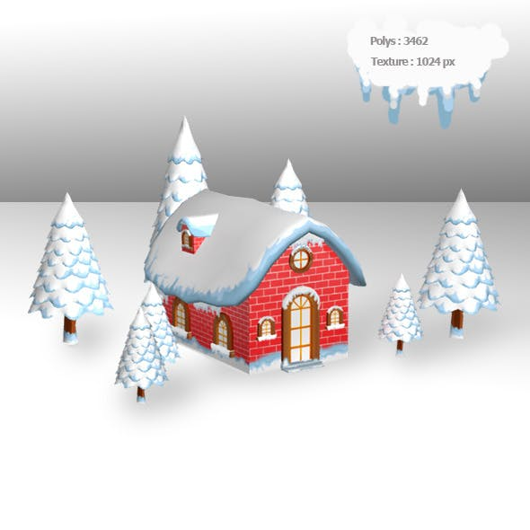 Christmas House - 3DOcean Item for Sale