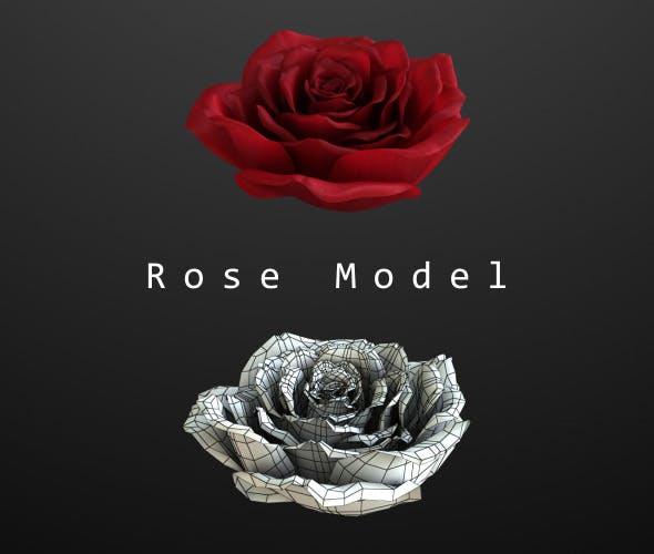 Rose Model - 3DOcean Item for Sale