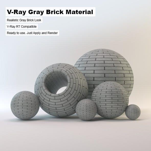 V-Ray Gray Brick Material
