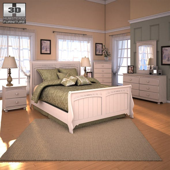Ashley Cottage Retreat Sleigh Bedroom Set