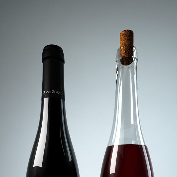 Photoreal Wine Bottles -Type1-