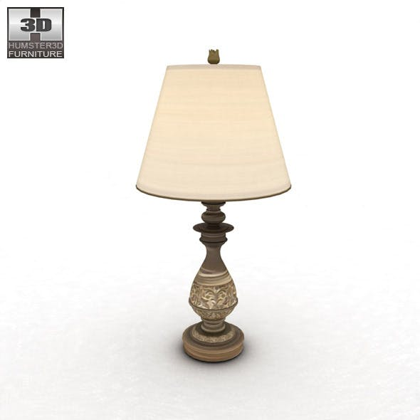 Ashley Cottage Retreat Table Lamp - 3DOcean Item for Sale