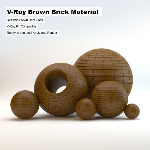 V-Ray Brown Brick Material