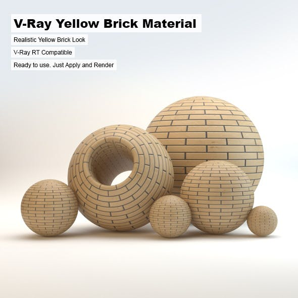 V-Ray Yellow Brick Material