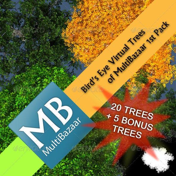 Multibazaar Bird's Eye Virtual Trees 1st Pack - 3DOcean Item for Sale