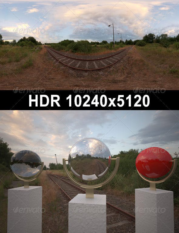 HDR 079 Rail Tracks sIBL - 3DOcean Item for Sale