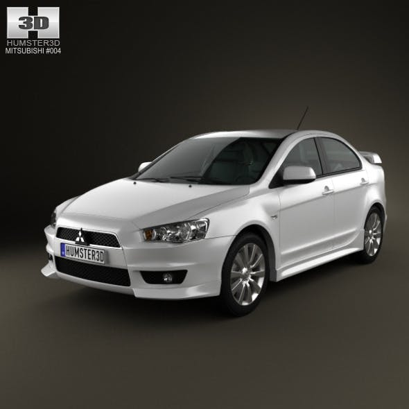 Mitsubishi Lancer Sedan - 3DOcean Item for Sale