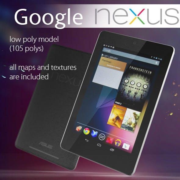 Google Nexus 7 Low Poly