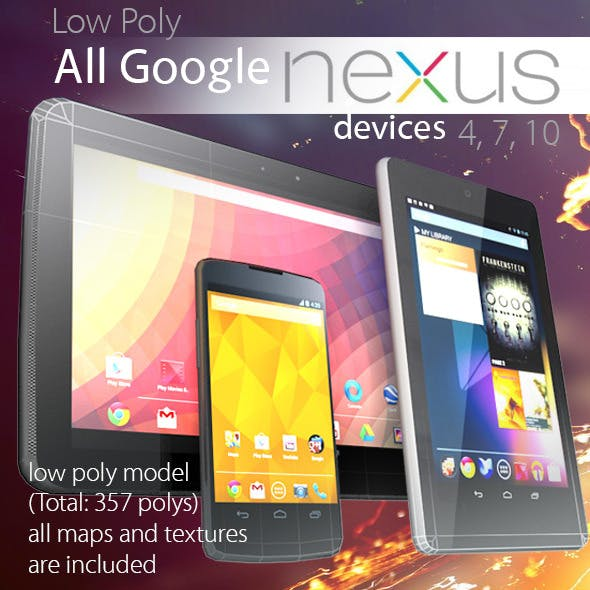 All Google Nexus Devices Pack Low Poly