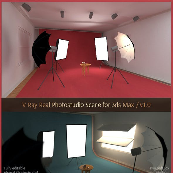 V-Ray Real Photostudio Scene for 3ds Max