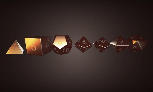 RPG Dice Pack - 3DOcean Item for Sale