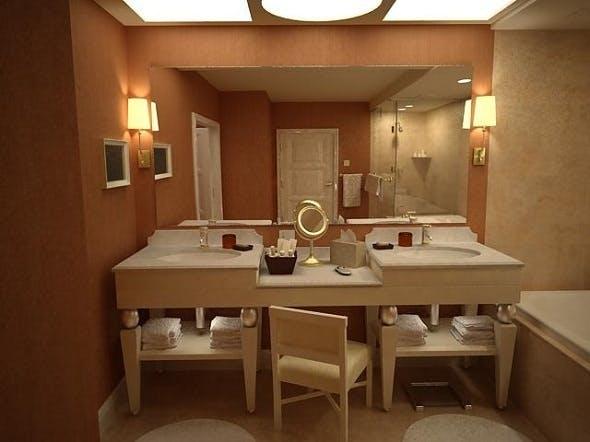 complete bathroom interior - 3DOcean Item for Sale