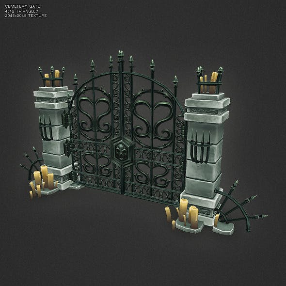Low Poly Cemetery Gate
