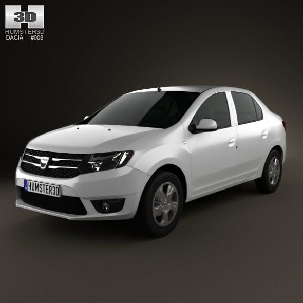 Dacia Logan sedan 2013 - 3DOcean Item for Sale