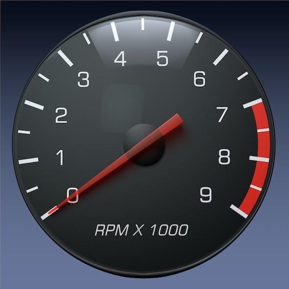 Tachometer Gauge for Auto/Truck Instrument Panel