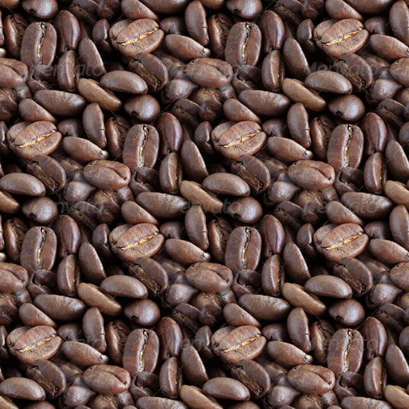 Coffee Beans Tilling Texture - 3DOcean Item for Sale
