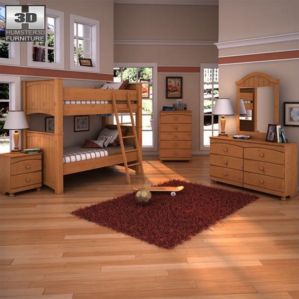Ashley Stages Bunk Bedroom Set - 3DOcean Item for Sale