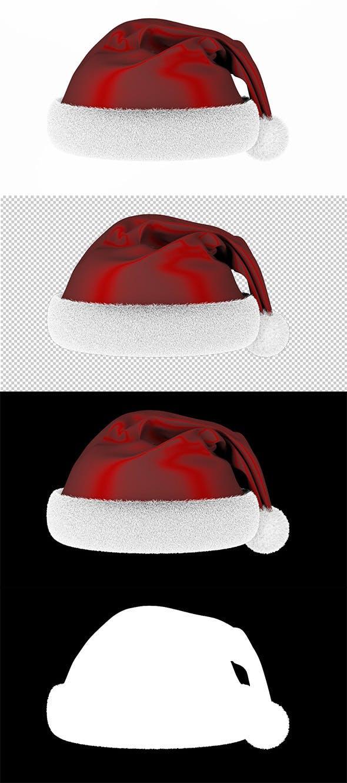 Ready render scene for Christmas Santa hat - 3DOcean Item for Sale