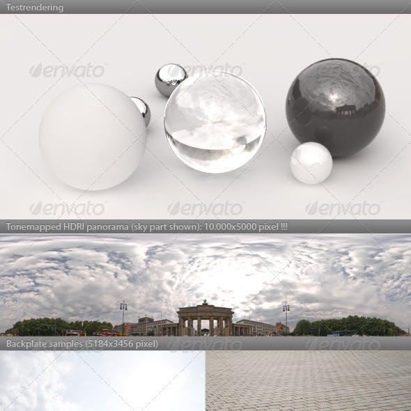 HDRI spherical panorama -1017- cloudy sky BERLIN