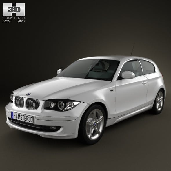 BMW 1-series 3 door 2009 - 3DOcean Item for Sale
